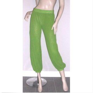Jean Paul Gaultier Soleil Green Mesh Harem Pant XS